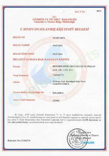 certificate of registry, football certificate