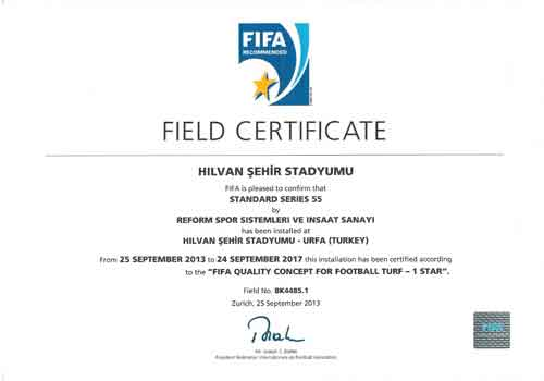 fifa certificate,